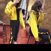 2017春秋新款休闲套装女时尚百搭两件套宽松大码学生跑步运动服潮