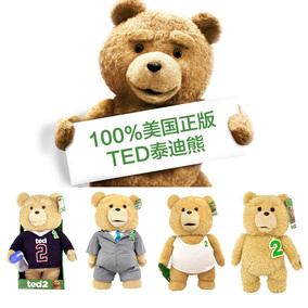 少量现货美国代购正版TED2电影泰迪熊teddy公仔会说话情人节礼物