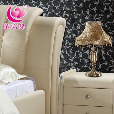 牌家具 1.8米 婚床依嘉缘皮床 双人床 圆床 软体床 软床 品