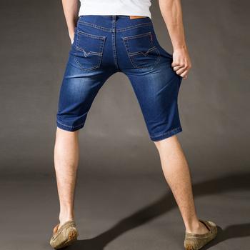 夏季薄款牛仔短裤男士青年休闲弹