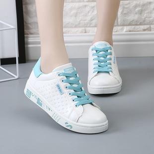 2017春夏季新款女鞋韩版休闲鞋爆款跑步鞋时尚运动鞋小白鞋蘑菇街