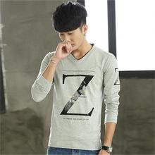 打底衫 学生上衣服潮流 卫衣帅气个性 男士 T恤韩版 长袖 2016冬季新款