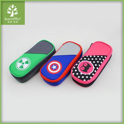 韩国kk树小学生笔袋男女款儿童文具盒笔袋大容量分层简约笔袋