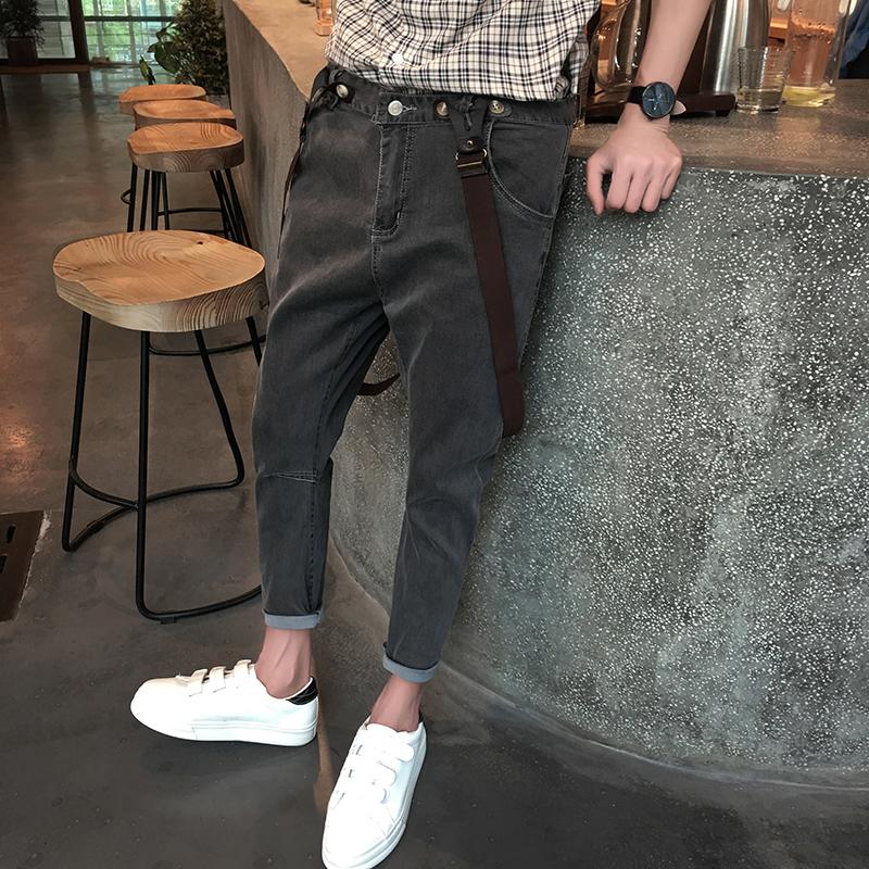 2018年全新铅笔牛仔裤男搭配效果图片大放送