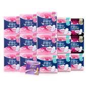 【天猫超市】护舒宝卫生巾云感棉丝薄日用甜睡夜用护垫组合共89片