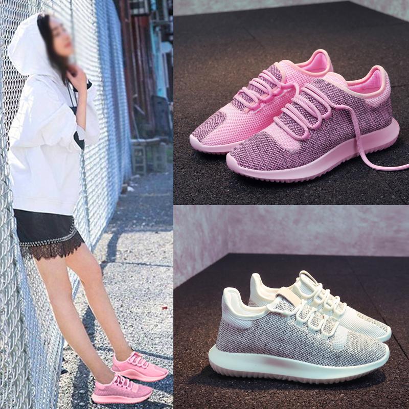 网鞋潮百搭韩版女春夏飞织运动鞋跑步平底学生透气休闲