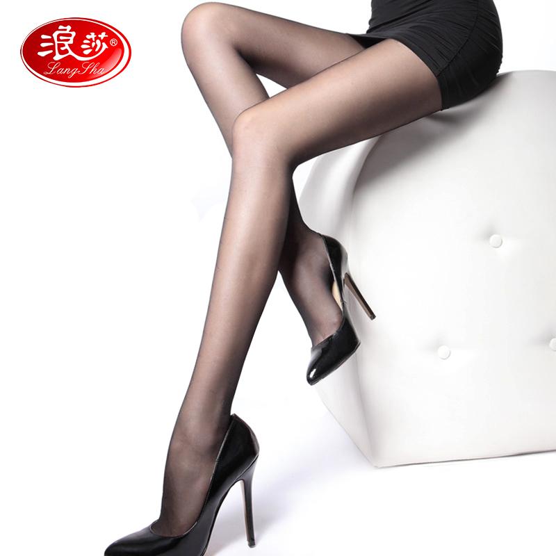 浪莎【6条装】正品丝袜连裤袜防勾丝夏季超薄美腿袜女防脱瘦腿袜