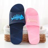 塑料室内地板情侣居家鞋 女夏防滑软底浴室拖鞋 简约鱼骨家居凉拖鞋