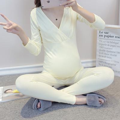 孕妇秋衣秋裤套装秋冬季月子服纯棉产后哺乳喂奶衣保暖孕妇睡衣冬