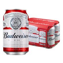 【天猫超市】Budweiser/百威啤酒 小麦醇正拉罐330ml*6听 单提装