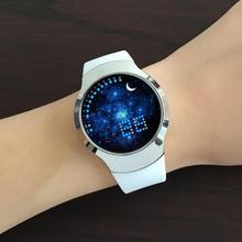 时尚潮流夜光触屏智能男士电子表简约皮带韩版情侣表女款学生手表