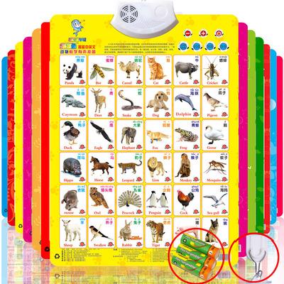 凹凸有声挂图宝宝儿童玩具早教语音发音识字认知拼音挂图