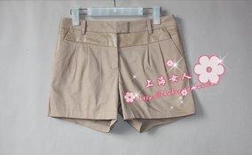 【特价款】巧帛专柜正品清仓142508#PU拼接棉质短裤 2色