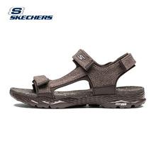 Skechers斯凯奇夏季女鞋 时尚百搭帆布凉鞋 轻质缓震沙滩鞋14643