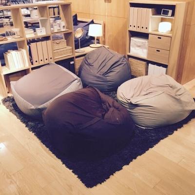 客厅沙发良品全棉舒适布艺懒人沙发 创意卧室懒人椅豆包袋榻榻米