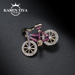 简约创意胸针女韩国个性复古自行车胸花别针服饰外套大衣配饰品