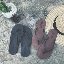 人字拖女防滑平底可爱学生夏季韩国夹脚中跟凉拖鞋 男厚底沙滩 韩版