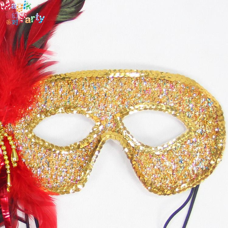 儿童节舞会面具女 羽毛半脸性感公主情趣化妆舞会