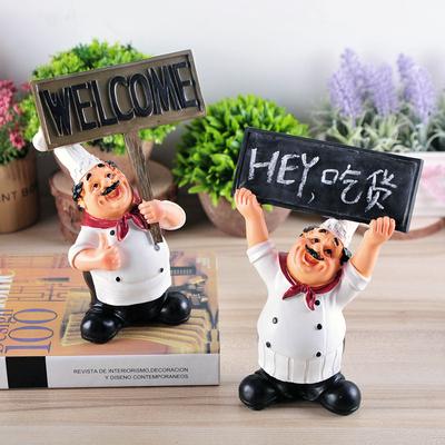美式乡村举牌厨师摆件 餐厅酒吧咖啡馆面包房时尚家居装饰品摆设