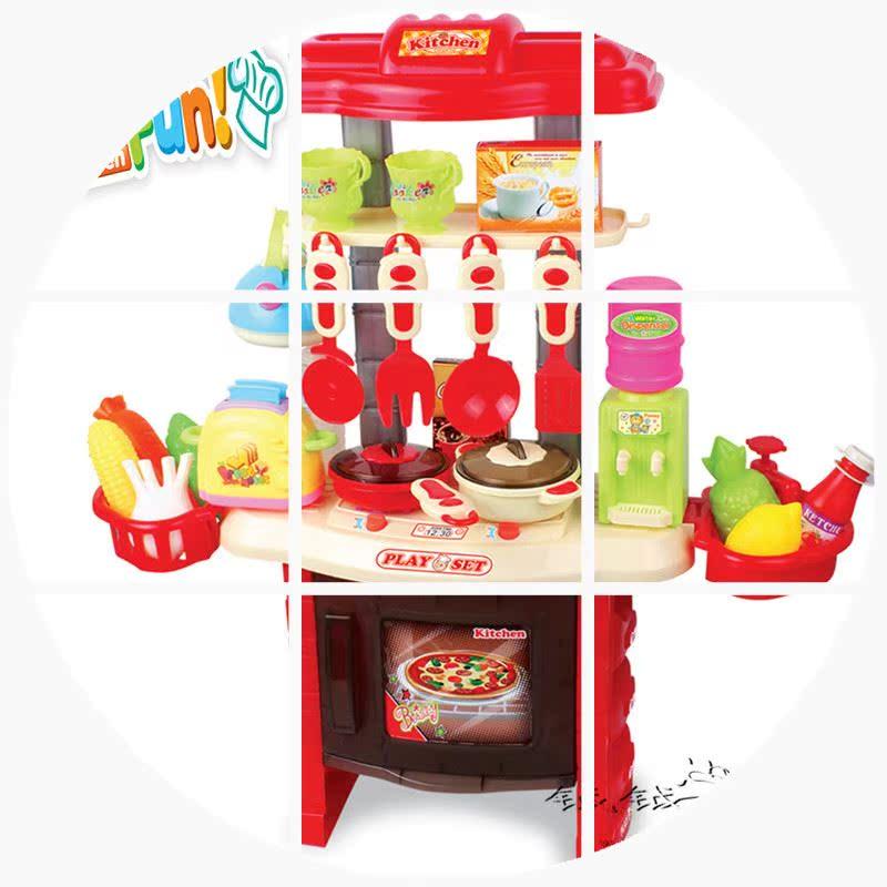 儿童玩具女孩 音乐厨房玩具 做饭厨具餐具套装过家家玩具 切切乐