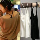 夏季吊带背心女性感莫代尔棉中长款学生内搭打底衫Y型交叉吊带衫