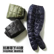 新款 户外中老年女棉裤 男士 显瘦高腰大码 内外穿加厚清仓修身 羽绒裤