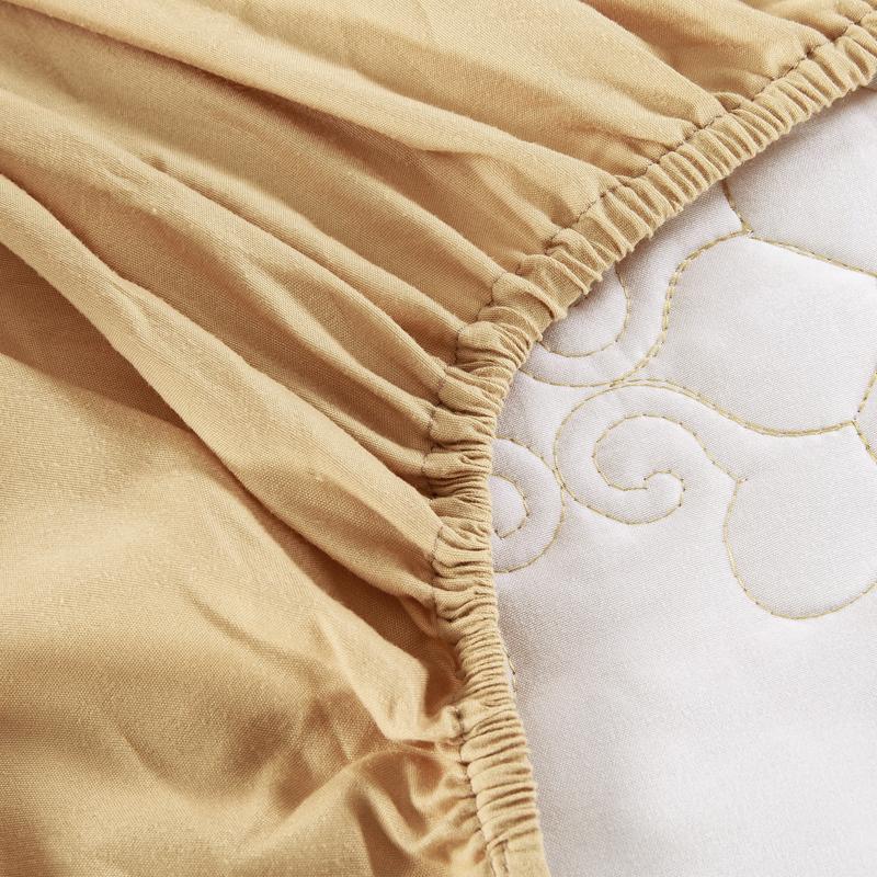 纯棉夹棉床罩床裙式席梦思床笠保护床套1.5米1.8m双人2.0三件套
