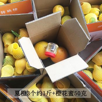 秭归夏橙3个约1斤送橙花蜂蜜50克