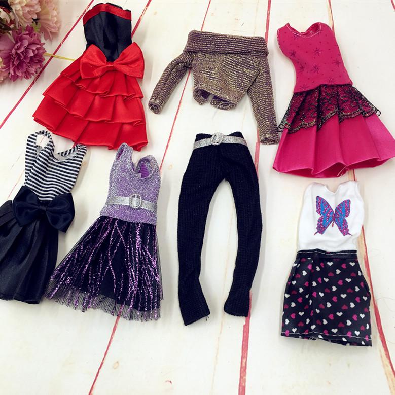 新版芭芘比公主换装服饰公主裙 运动风休闲衣服芭芘比娃娃衣服装