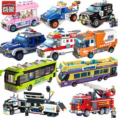 兼容乐高城市系列街景警察军事汽车男女孩子拼装组装启蒙积木玩具
