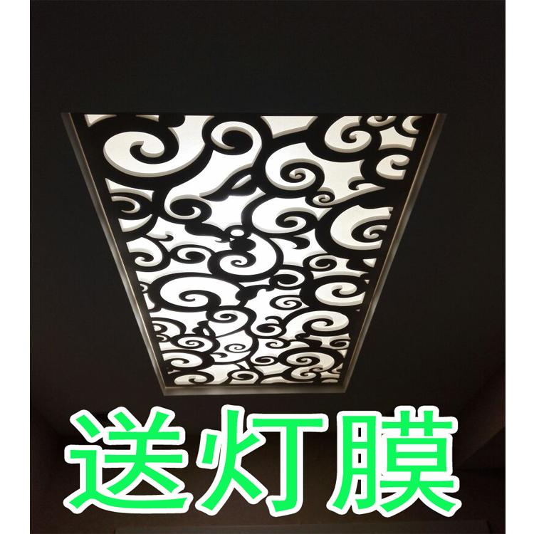欧式PVC客厅现代镂空隔断密度雕花板屏风玄关通花吊顶背景墙花格