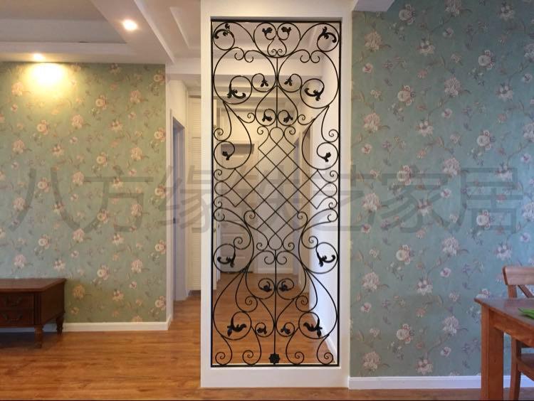 欧式客厅铁艺屏风创意镂空鞋柜雕花简约入户玄关铁艺