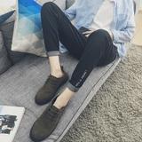 2017新款秋季男士牛仔裤百搭韩版弹力修身小脚裤黑色休闲裤子潮流
