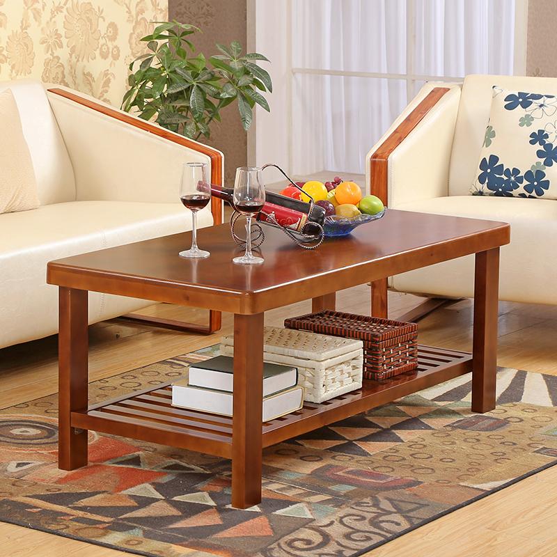 包邮实木松木茶几纯实木简约茶几客厅边几实木家具小