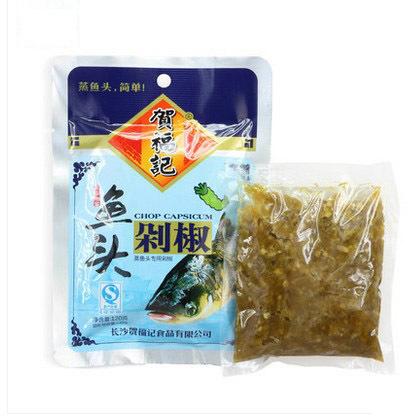 湖南特产 贺福记青鱼头剁椒10*120g 剁辣椒调料酱 辣椒酱剁椒鱼头