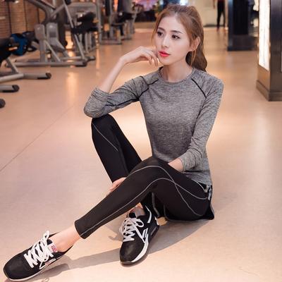 阿妮丝瑜伽服秋冬 健身服女显瘦晨跑套装女 健身跑步运动套装女秋