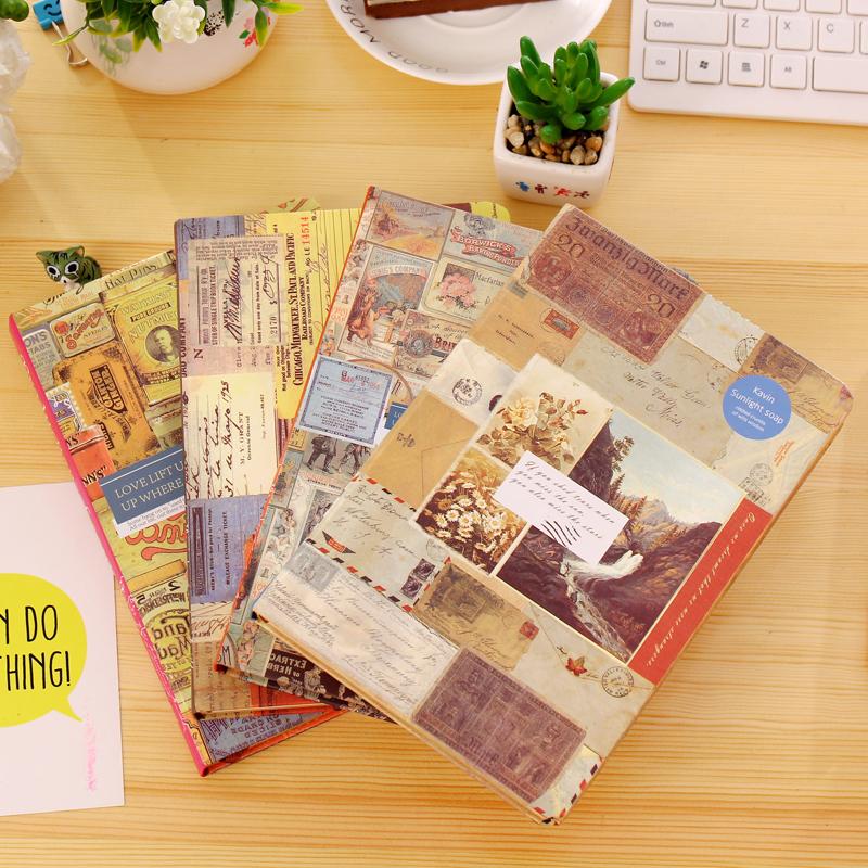 韩国文具唯美加厚本子笔记本子创意彩页日记本插画记事本硬面抄