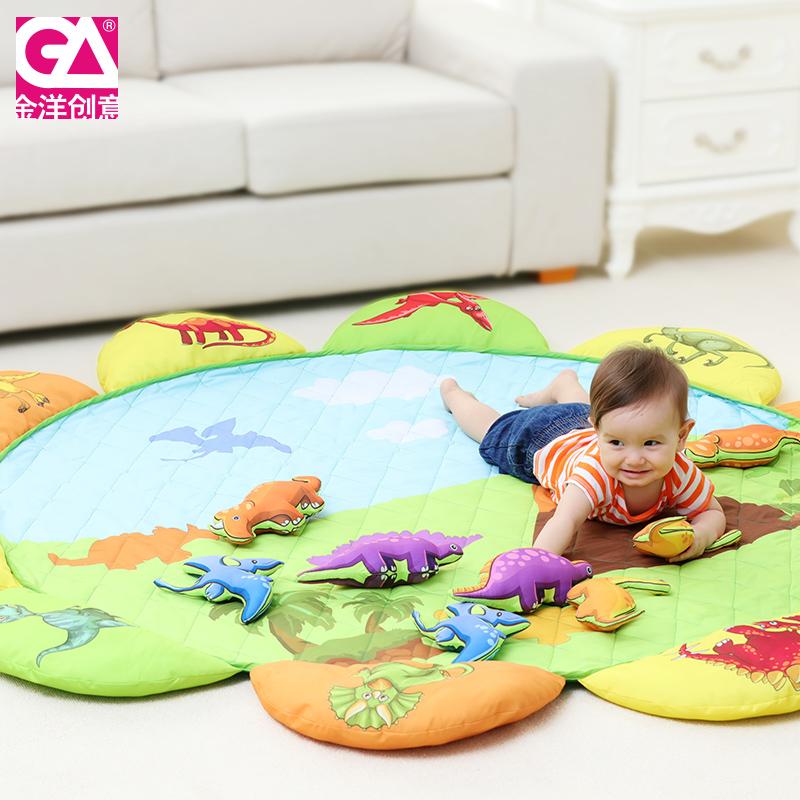 布艺超大宝宝爬行垫加厚儿童爬爬垫家用折叠客厅婴儿垫子防滑地垫