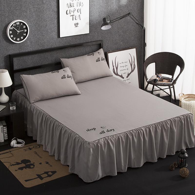 夏季床裙三件套1.5米床垫保护套防滑床套床罩单件床笠1.8m床单