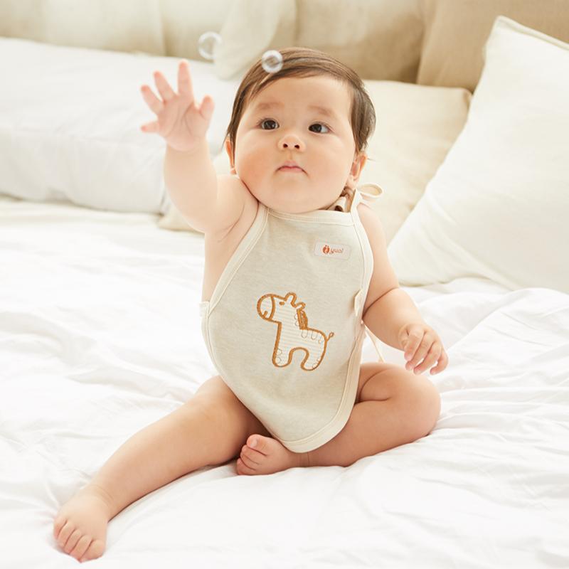 婴儿肚兜夏彩棉宝宝纯棉夏季薄款小孩兜兜衣服男女新生儿童护肚围