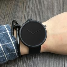 韩版时尚极简约手表男女创意原宿风概念手表潮流学生皮带石英腕表
