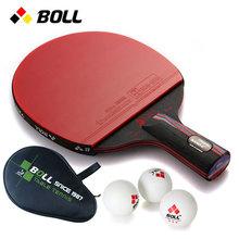 乒乓球拍初学直拍横拍BOLL红黑纳米碳王单拍正品反胶 乒乓球球拍