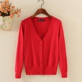 毛衣小披肩外套空调衫 V领外搭短款 针织衫 长袖 女开衫 春夏秋季薄款