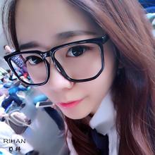男女款 护目 有镜片 无度数 大框 韩版 平光镜 平面 眼镜 时尚