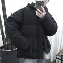 宽松加厚保暖连帽男袄子 潮流棉袄男短款 冬季棉衣男韩版 dentsu新款