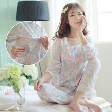 孕妇睡衣春秋季月子服纯棉产妇喂奶产后春夏季薄款外出哺乳衣套装
