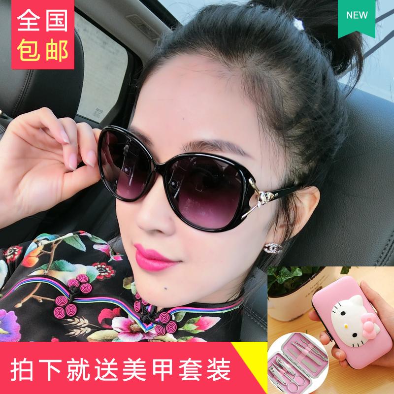 明星时尚太阳镜墨镜款大框简约圆脸优雅
