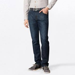 2017新款男装秋季牛仔裤经久耐磨透气舒适男士中腰直筒牛仔长裤