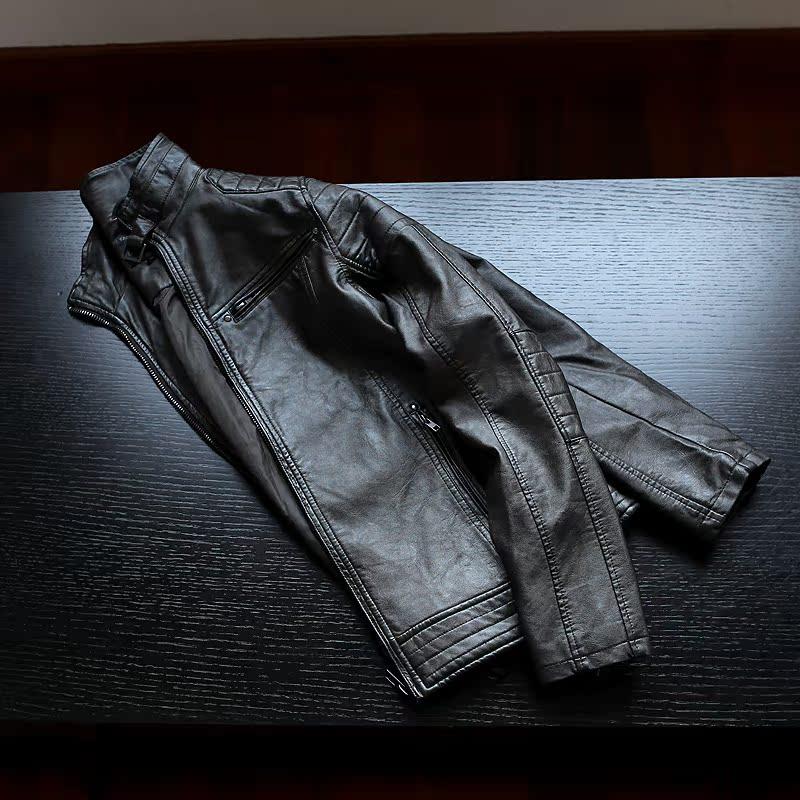 向骑士精神致敬 复古怀旧 成衣脏洗 硬朗机车 男士PU皮衣夹克外套