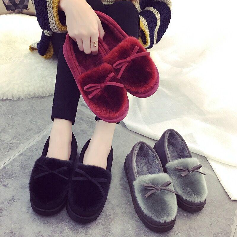 冬季新款棉拖鞋女厚底麂皮绒毛绒包跟保暖棉鞋月子鞋家居家毛拖鞋
